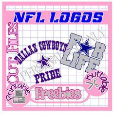 The Scrapoholic : 25 Days of NFL Cut File Freebies! Dallas Cowboys