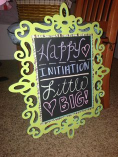 Big Little love <3 Chalkboard for the little