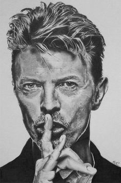 portrait - David Bowie by Mike Group: Most Viewed Pictures of the Last 7 Days.