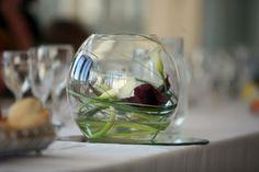 Dark red Calla Lily table flower arrangements for restaurant. Table Flower Arrangements, Table Flowers, Calla Lily, Dark Red, Wine Glass, Our Wedding, Ipad, Restaurant, Tableware