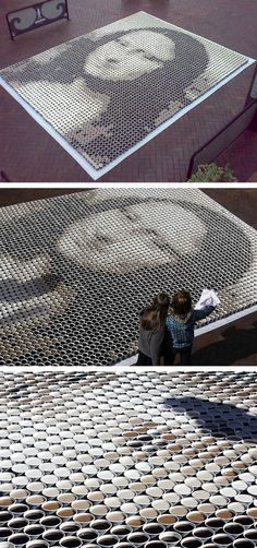 Mona Lisa van 3604 kopjes koffie