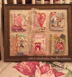 RESERVED LISTING for DONNA textile brooches by needletraditions