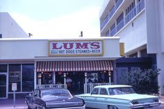 Lum's Restaurant Hot Dogs Steamed In Beer Hollywood By The Sea, Fla. Soda Fountain, Road Trip Usa, Girls Life, Hot Dogs, Old School, Nostalgia, Hollywood, Beer, Restaurant