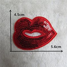 FairyTeller 1Pcs Sell Multiple Style Select High Quality Red Lip Patch Hot Melt Adhesive Applique Embroidery Patch Diy Decoration Accessory >>> Visit the image link more details.