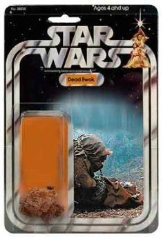 Dead Ewok action figure.  How do the kids play with this without being traumatized for life?