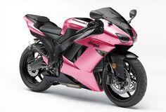 pink ninja motorcycle - ok sold. Moto Ninja, Ninja Motorcycle, Kawasaki Motorcycles, Cars And Motorcycles, Image Moto, Pink Bike, Hot Rides, Kawasaki Ninja, Kawasaki Zx6r