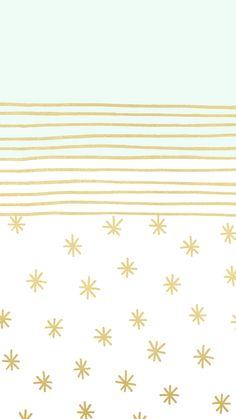 Mint and Gold Star Wallpaper by @linesacross.jpg - Box