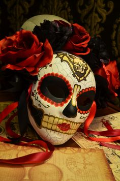 Lady Tabitha Day of the Dead Mask Dia de los by HikariDesign
