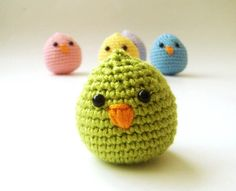 lime green baby chick by sabahnur on Etsy, $10.00  these as an accessory in a baby's room? adorable