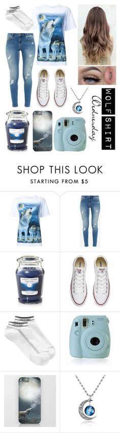 """Wolf Shirt Wednesday p.21"" by a-valen ❤ liked on Polyvore featuring WALL, Ted Baker, Yankee Candle, Converse, Calvin Klein, David's Bridal, Fujifilm, Blue, wolf and wednesday"