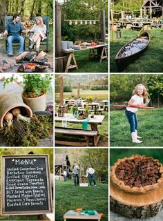 Love this rehearsal dinner idea! Relaxing and fun evening with both families!