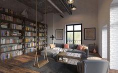 Мансарда в стиле Лофт - 3D-проекты интерьеров в стиле лофт | PINWIN - конкурсы для архитекторов, дизайнеров, декораторов