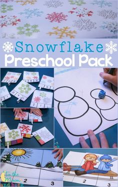 Free snowflake printable activities for preschool! Lots of hands-on learning fun!