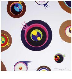 TAKASHI MURAKAMI, Jellyfish Eyes White 1, 2007, offset lithograph