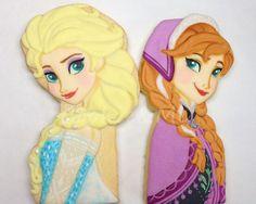 Frozen Elsa Anna cookies
