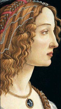 nicolo intaglio necklace in Sandro Botticelli early Renaissance oil painting Renaissance Kunst, Renaissance Portraits, Renaissance Paintings, Italian Painters, Classical Art, Italian Art, Medieval Art, Religious Art, Face Art