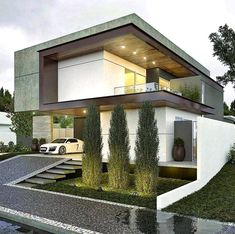 10 Sublime Useful Tips: Contemporary Living Room Tv Wall contemporary house architecture.Contemporary Architecture Home contemporary bathroom brown. Residential Architecture, Amazing Architecture, Contemporary Architecture, Interior Architecture, Contemporary Garden, Contemporary Style, Contemporary Stairs, Minimal Architecture, Creative Architecture