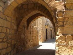 The Arches leading to the Chapel of St. Joseph at the Citadella in Gozo Island.
