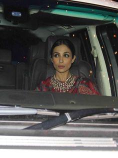 Malaika Arora Khan at Amitabh Bachchan's #Diwali bash. #Bollywood #Fashion #Style #Beauty #Desi