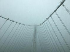 When driving across the Bay Bridge you get that eerie feeling