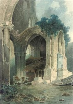 Rievaulx Abbey, Yourkshire, pencil and watercolor - John Sell Cotman (British…
