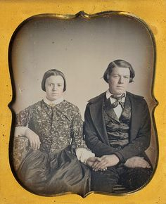daguerreotype elderly couple | Sweet sixth plate daguerreotype of a teenage bride and her groom ...