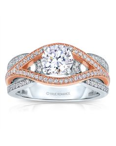 Rose and white gold intertwined