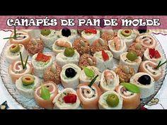 Canap s frios y variados con pan de molde 3 canap s for Canapes faciles y ricos