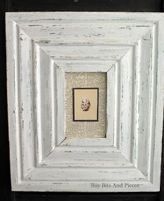Lovely little makeover of old frames and new pictures from Itsy Bitsy Pieces.