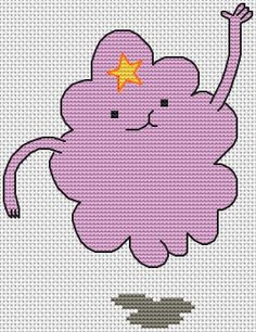 PDF Pattern for Lumpy Space Princess from Adventure Time Cross Stitch - Instant Download - Cross Stitch Chart Only on Etsy, $4.31 CAD