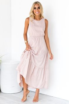 Little Sicily Dress - Blush Mob Dresses, Modest Dresses, Women's Fashion Dresses, Casual Dresses, Summer Dresses, Pretty Outfits, Pretty Dresses, Summertime Outfits, Fashion For Women Over 40
