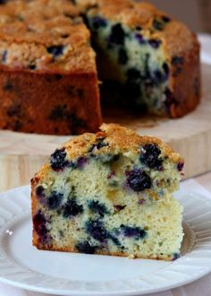 Buttermilk Blueberry Cake #recipe