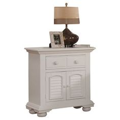 Nightstand -  Dove White - American Woodcrafters