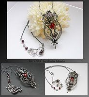 Kerenza- wire wrapped necklace by mea00