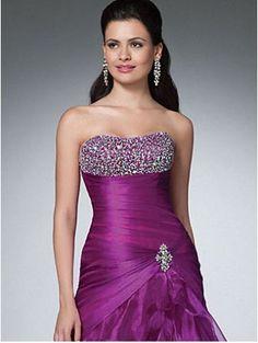 Gorgeous Strapless Ivory Taffeta/Satin Embroidery Bridal Wedding Dress Gown New