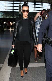 My Intimate Affair with Fashion: Kim Kardashian All Black Airport Style