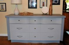 """#midcenturymodern #dresser #midcentury Selling this on ebay for $395 or best offer! This mid century modern dresser is super chic! The top left and right drawer fronts have a fun serpentine style swoop. The dimensions are 62"""" WIDE, 20"""" DEEP, and 32"""" TALL."""