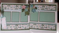 February Scrap Club Lay-Out in Blues/Greens