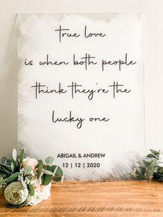 Lucky Ones Acrylic Welcome Wedding Sign