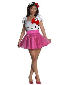 3dcad39dd97f Amazon.com  Rubie s Costume Co Womens Secret Wishes Hello Kitty Costume   Clothing Pink