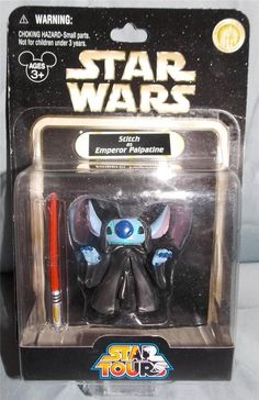 New in Collectibles, Disneyana, Contemporary (1968-Now) You are bidding on a New Walt Disney World   Star Wars Star Tours Stitch as Emperor Palpatine Figure.  This figure is part of series 1  There is some shelf wear to the card and a mark where the price sticker use to be.