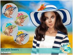 Sims 4 CC's - The Best: Hat with flowers by Severinka