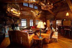 Wheelbarrow Creek Ranch log home in Stevensville, Montana
