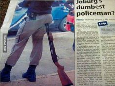 Only in South Africa...