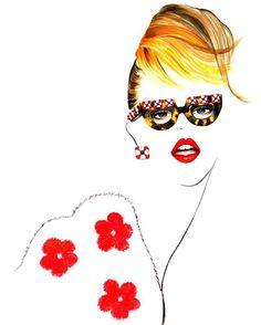 Happy Hump Day ______________________________________ @prada #sunnygu #sunnies #sunglasses #fashion #fashionista #fashionweek #red #fashionportrait #fashionillustration #art #illustration #watercolor #instaart #mua #instamood #instadaily #ootd #beauty