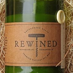 Wine Bottle Candle Champagne by Rewined | MONOQI
