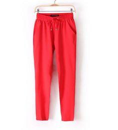 Módní dámské barevné volné pohodlné kalhoty červené – Velikost L Na tento  produkt se vztahuje nejen 708e89a9e2