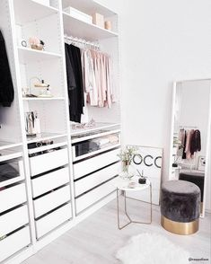 52 Trendy home organization ideas closet bedrooms Walk In Closet Design, Closet Designs, Closet Bedroom, Bedroom Decor, Decor Room, Walk In Closet Ikea, Bedroom Ideas, Master Closet, Dream Bedroom