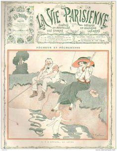Fabien Fabiano (1882 – 1962).  La Vie Parisienne, 14 Août 1909. [Pinned 11-viii-2015]