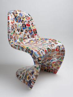 The Panini World Cup Sticker Chair 1986-2011, Barnaby Barford 2011
